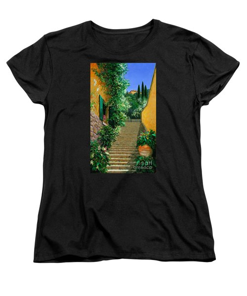 Women's T-Shirt (Standard Cut) featuring the painting Lofty Heights by Michael Swanson