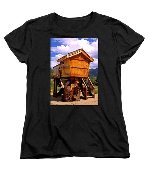 Log Cabin Penthouse Women's T-Shirt (Standard Cut)