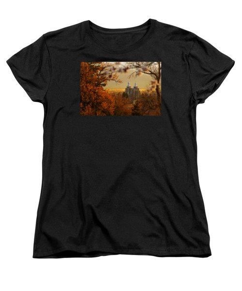 Logan Temple Women's T-Shirt (Standard Cut) by Dustin  LeFevre