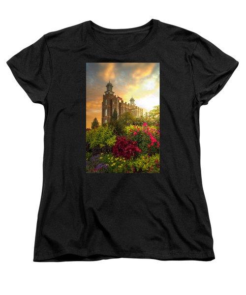 Logan Temple Garden Women's T-Shirt (Standard Cut) by Dustin  LeFevre