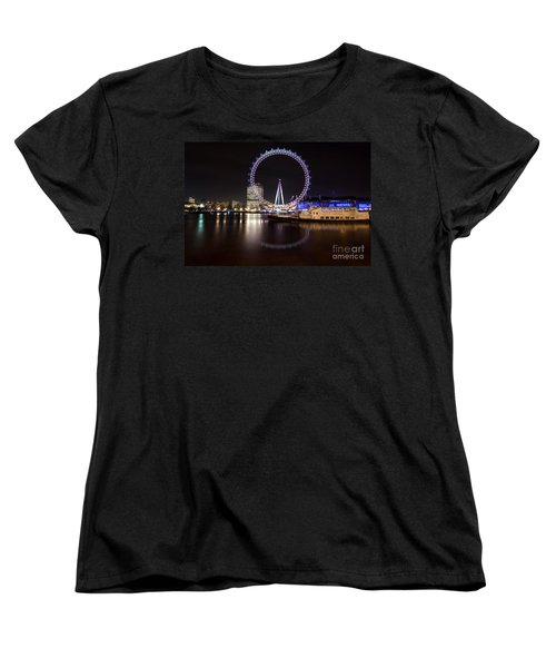 Women's T-Shirt (Standard Cut) featuring the photograph London Eye Night by Matt Malloy