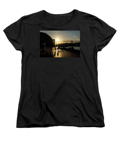 Women's T-Shirt (Standard Cut) featuring the photograph London Silhouettes  by Georgia Mizuleva