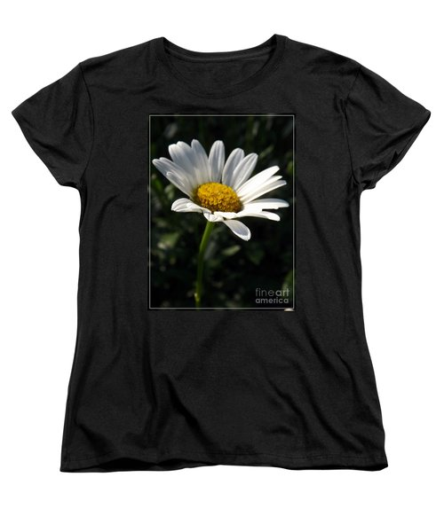 Lone Daisy Women's T-Shirt (Standard Cut) by Sara  Raber