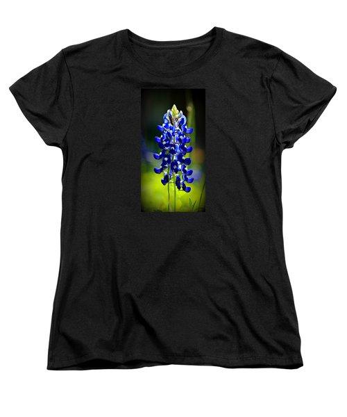 Lone Star Bluebonnet Women's T-Shirt (Standard Cut) by Stephen Stookey