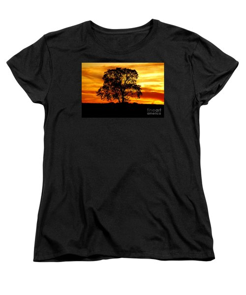 Women's T-Shirt (Standard Cut) featuring the photograph Lone Tree by Mary Carol Story