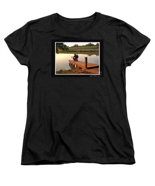 Lonely Guitarist Women's T-Shirt (Standard Cut) by Debbie Portwood