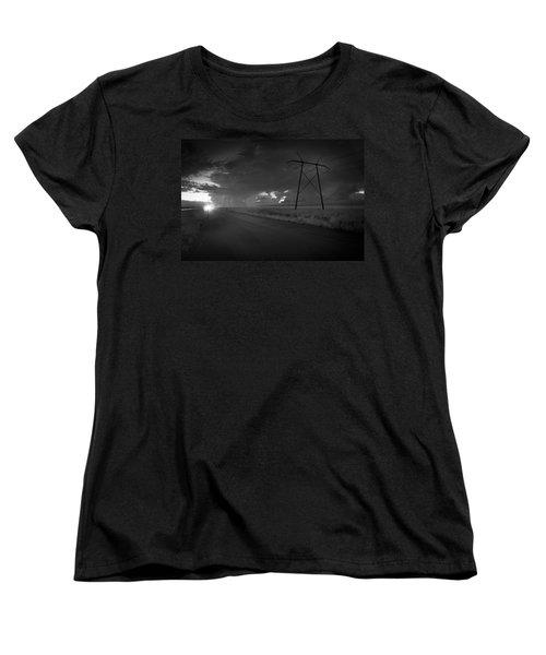 Long Road Home Women's T-Shirt (Standard Cut) by Bradley R Youngberg