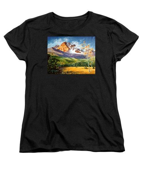Women's T-Shirt (Standard Cut) featuring the painting Longs Shadows by Craig T Burgwardt