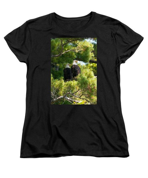 Women's T-Shirt (Standard Cut) featuring the photograph Look Over There by Brenda Jacobs