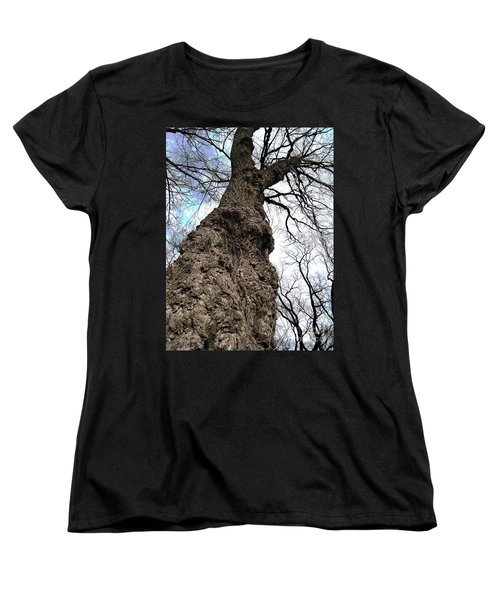 Women's T-Shirt (Standard Cut) featuring the photograph Look Up Look Way Up by Nina Silver