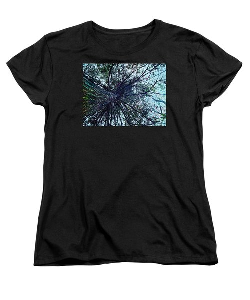 Women's T-Shirt (Standard Cut) featuring the photograph Look Up Through The Trees by Joy Nichols