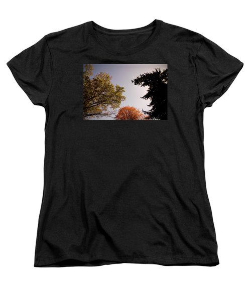 Looking Down On Us Women's T-Shirt (Standard Cut) by Photographic Arts And Design Studio