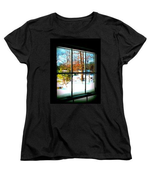 Looking Out Women's T-Shirt (Standard Cut) by Pamela Hyde Wilson