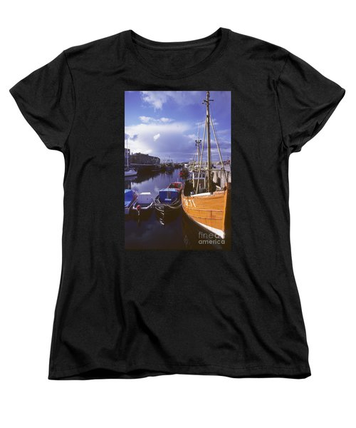 Women's T-Shirt (Standard Cut) featuring the photograph Lossiemouth Harbour - Scotland by Phil Banks