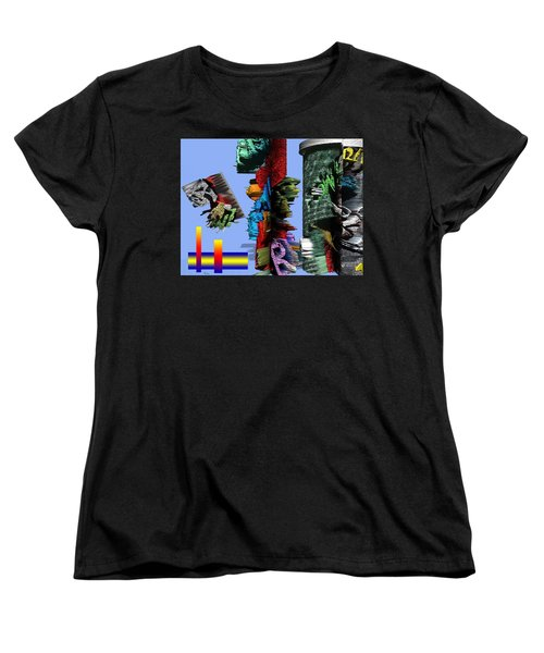 Lost In Comic Book Time Women's T-Shirt (Standard Cut) by Robert Margetts