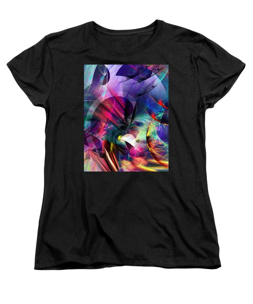 Women's T-Shirt (Standard Cut) featuring the digital art Lost In Hyperspace by David Lane