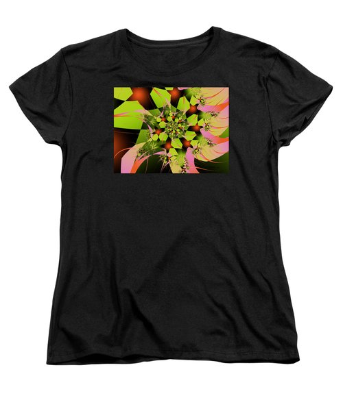 Women's T-Shirt (Standard Cut) featuring the digital art Loud Bouquet by Elizabeth McTaggart
