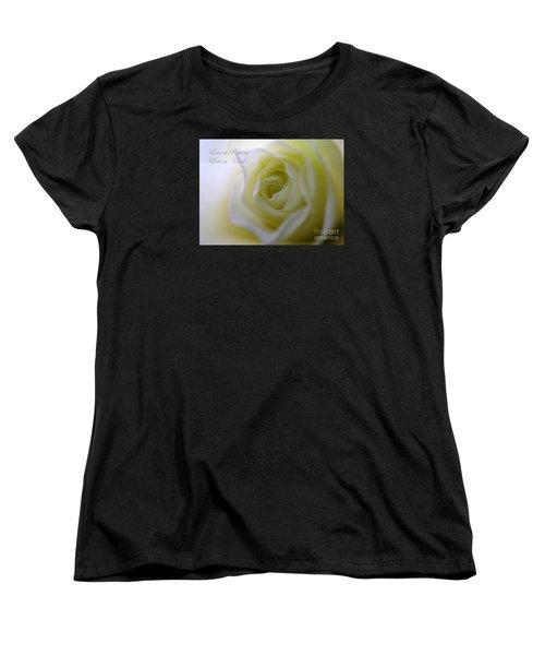 Love Is Patient Women's T-Shirt (Standard Cut) by Patti Whitten