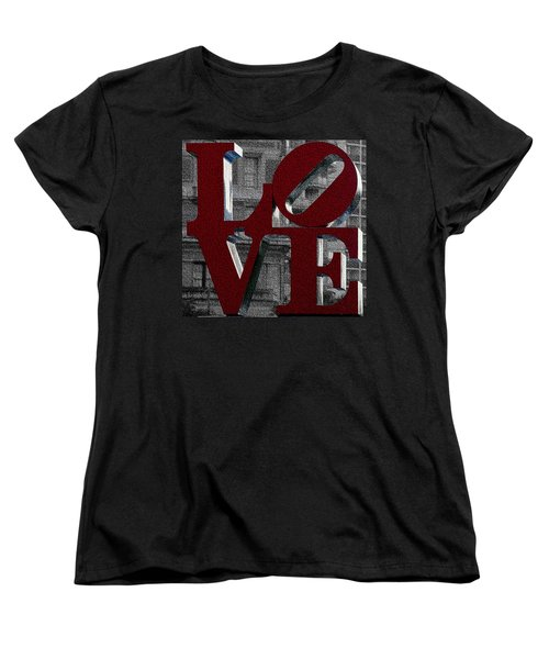 Love Philadelphia Red Mosaic Women's T-Shirt (Standard Cut) by Terry DeLuco