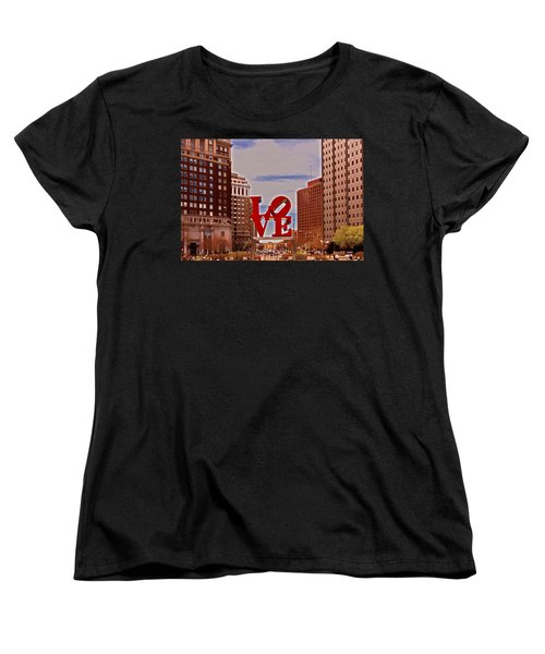 Love Sculpture - Philadelphia - 2 Women's T-Shirt (Standard Cut) by Lou Ford