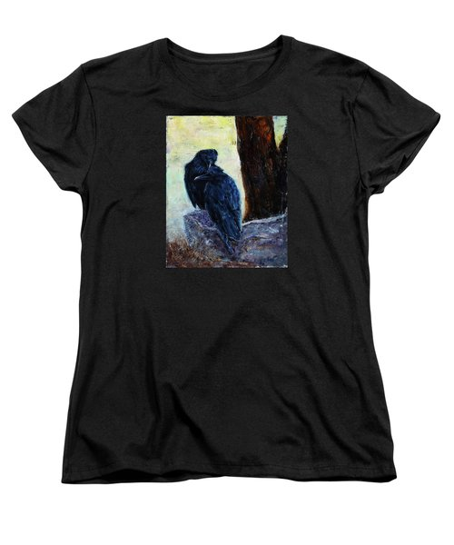 Women's T-Shirt (Standard Cut) featuring the painting Love Season I by Xueling Zou