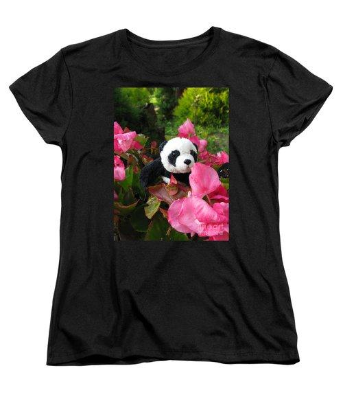 Lovely Pink Flower Women's T-Shirt (Standard Cut) by Ausra Huntington nee Paulauskaite
