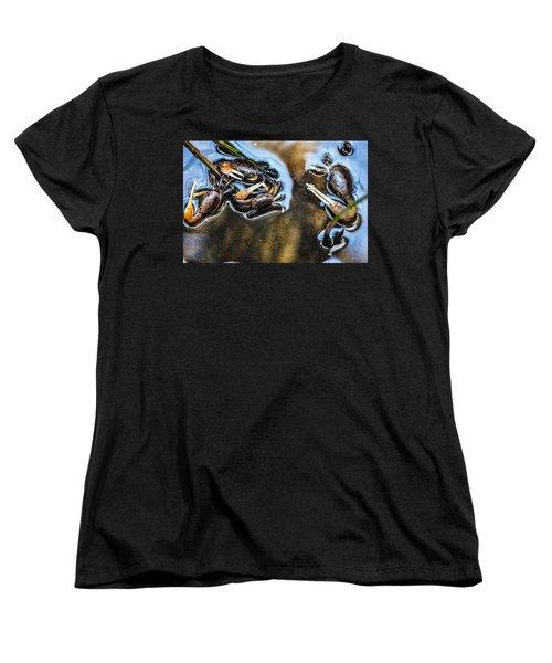 Low Tide Breakfast  Women's T-Shirt (Standard Cut) by Mary Ward