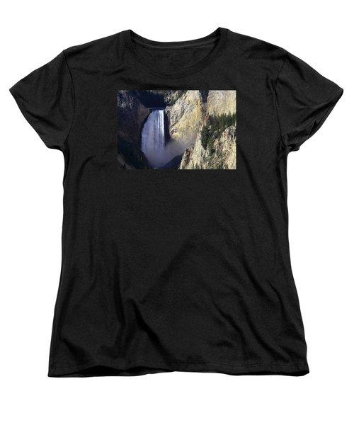 Women's T-Shirt (Standard Cut) featuring the photograph Lower Falls by David Andersen