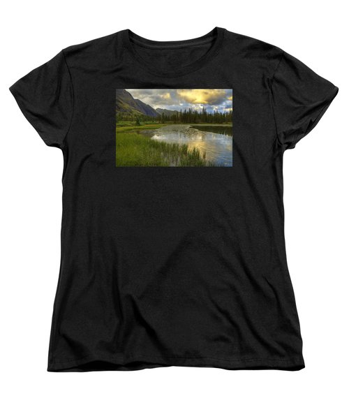 Lower Ice Lake Women's T-Shirt (Standard Cut) by Alan Vance Ley