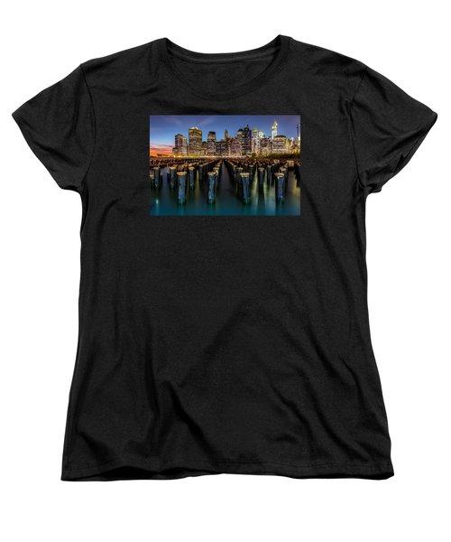 Lower Manhattan Women's T-Shirt (Standard Cut) by Mihai Andritoiu