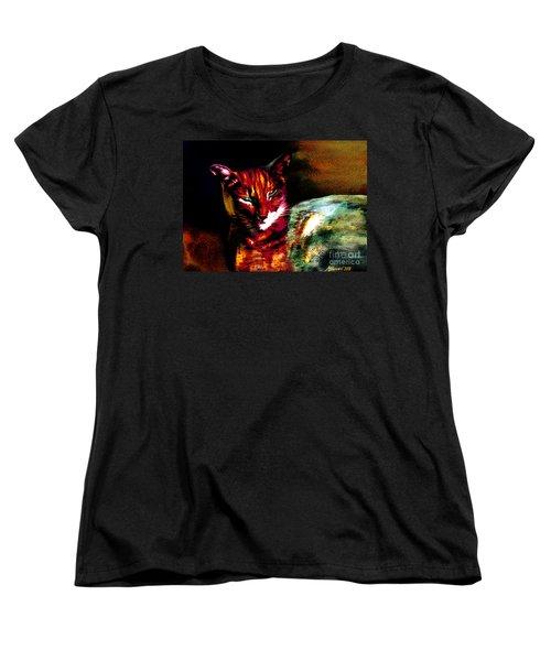 Lucifer Sam Tiger Cat Women's T-Shirt (Standard Cut) by Martin Howard