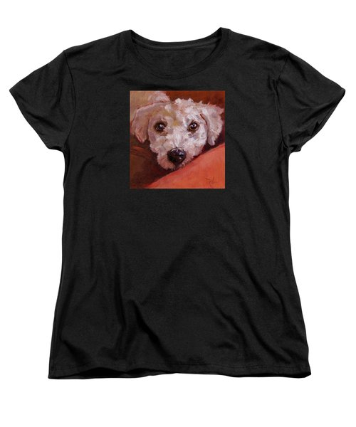 Women's T-Shirt (Standard Cut) featuring the painting Lucky by Pattie Wall