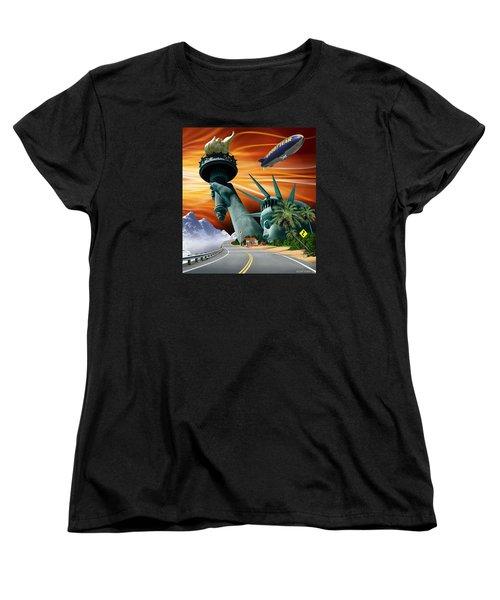 Lucky Star Women's T-Shirt (Standard Cut) by Scott Ross
