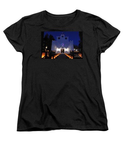 Luminarias At St Francis De Paula Women's T-Shirt (Standard Cut) by Vivian Christopher