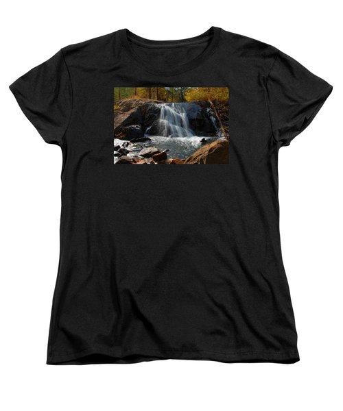 Women's T-Shirt (Standard Cut) featuring the photograph Lundy Creek Cascades by Lynn Bauer