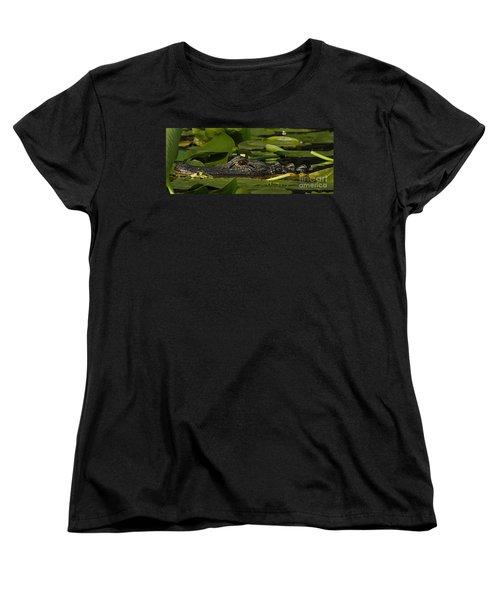 Women's T-Shirt (Standard Cut) featuring the photograph Lying In Wait by Vivian Christopher
