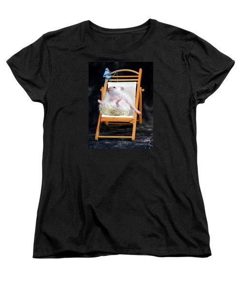 Lyla Sunbathing Women's T-Shirt (Standard Cut) by Paul  Wilford