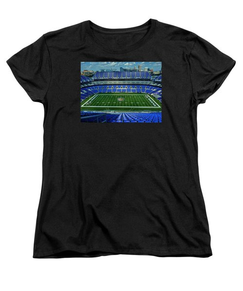 M And T Bank Stadium Women's T-Shirt (Standard Cut) by Robert Geary