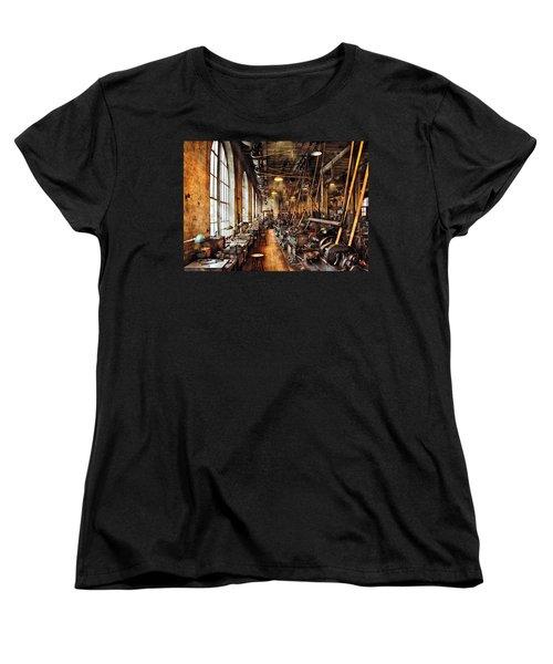 Machinist - Machine Shop Circa 1900's Women's T-Shirt (Standard Cut) by Mike Savad