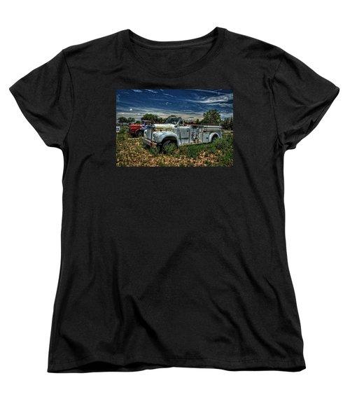 Women's T-Shirt (Standard Cut) featuring the photograph Mack Fire Truck by Ken Smith