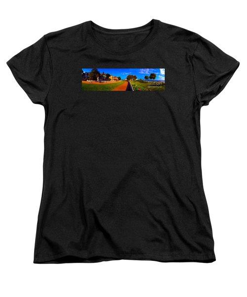 Women's T-Shirt (Standard Cut) featuring the photograph Mackinac Island Flower Garden  by Tom Jelen