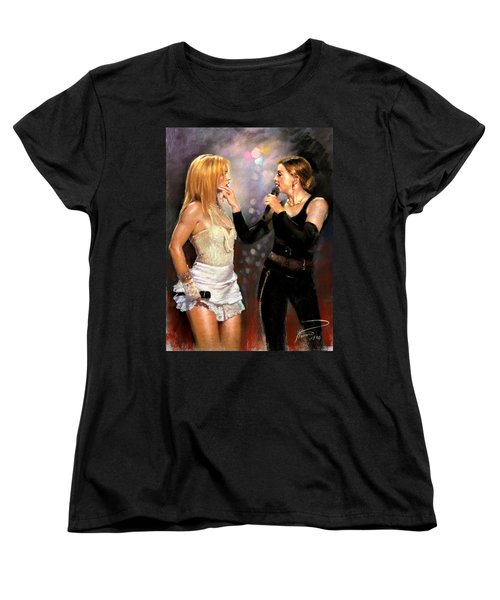 Madonna And Britney Spears  Women's T-Shirt (Standard Cut) by Viola El
