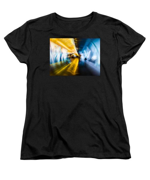 Women's T-Shirt (Standard Cut) featuring the photograph Main Access Tunnel Nyryx Station by Alex Lapidus