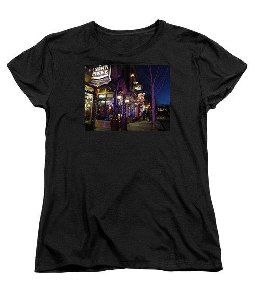 Main Street Breckenridge Colorado Women's T-Shirt (Standard Cut) by Fiona Kennard