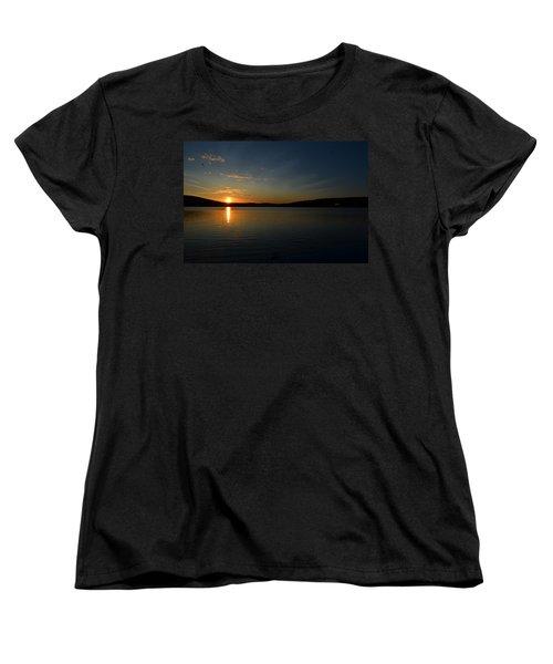 Women's T-Shirt (Standard Cut) featuring the photograph Maine Sunset by James Petersen