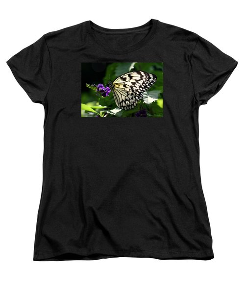 Women's T-Shirt (Standard Cut) featuring the photograph Malabar Tree Nymph  by Suzanne Stout