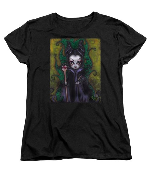 Maleficent  Women's T-Shirt (Standard Cut) by Abril Andrade Griffith