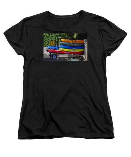 Malibu Kayaks Women's T-Shirt (Standard Cut) by Gandz Photography