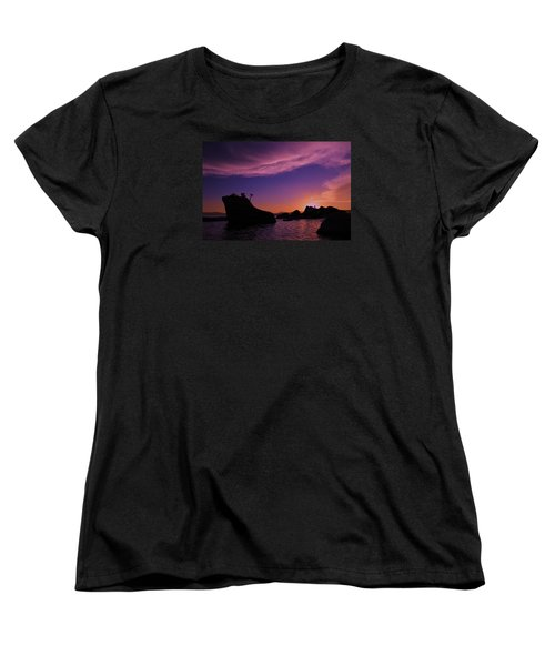 Women's T-Shirt (Standard Cut) featuring the photograph Man In Sun At Bonsai Rock by Sean Sarsfield