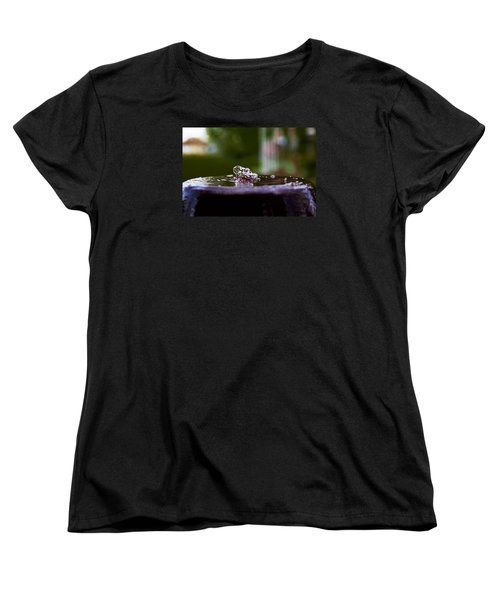 Man On The Surface Women's T-Shirt (Standard Cut) by Mez